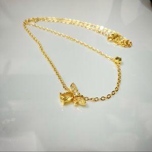 Queen Bee rhinestone necklace